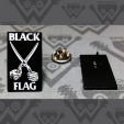 BLACK FLAG - Scissors - ENAMEL PIN