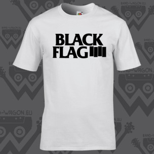 BLACK FLAG - Small Logo White - t-shirt